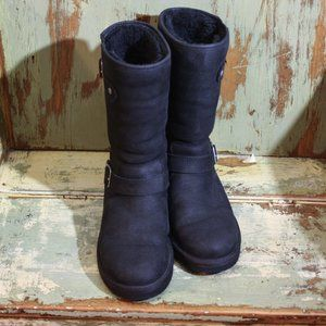 Black UGGS Moto boots